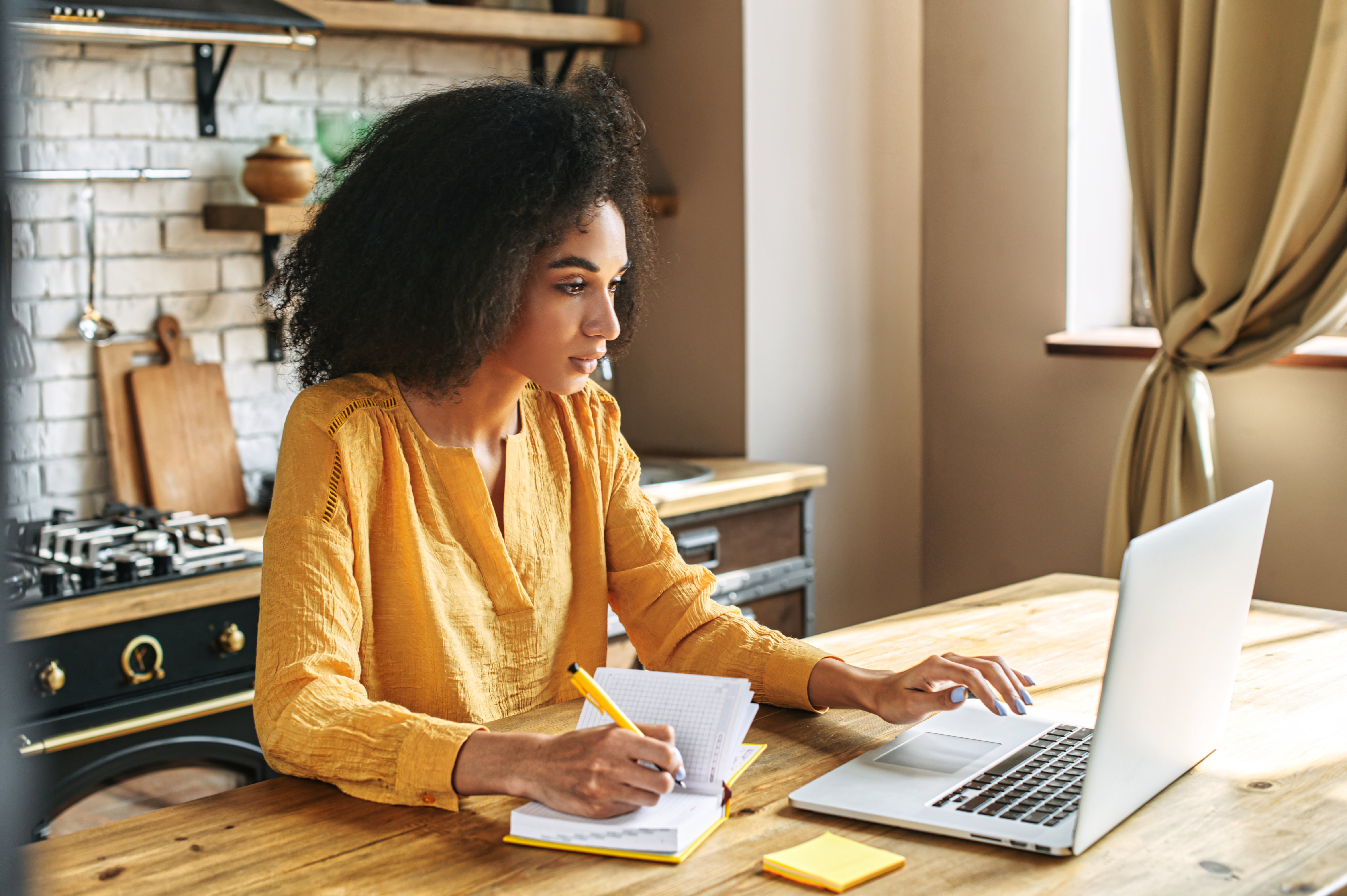 Woman remote working demonstrating quality of hire